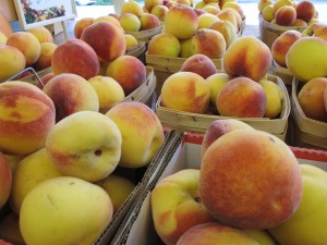 Sweet, Juicy Homegrown Peaches